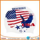 Durable Beautiful National Flag Swimming Caps