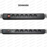 19 Inch Denmark Type Universal Socket Network Cabinet and Rack PDU