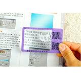 Hw-802A Business Card Magnifier 3X 6X Magnification PVC Magnifier Card