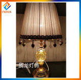 European Style Table Lamp with Fabric Lamp Shade