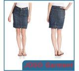 Ladies Knee Length Denim Skirt (JC2038)