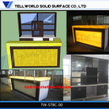 Restaurant Acrylic Lighted Bar Counter Furnitues Commercial Bar Sale