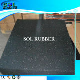 Black with Colourful EPDM Flecks Gym Rubber Flooring