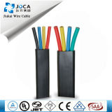 Flat 3/4 Core Salt Water Submersible Pump Cable