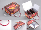 Portable Food Packaging Box, Food Paper Bag with Handle