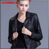Best Sell PU Jacket for Women Leisure Black Clothes