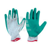Cheap Wholesale Price Latex Coated Cotton Glove 10 Gauge One Thread Flat Finished Coating Latex Gloves