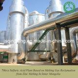 Kubohongye 70kt/a Sulfuric Acid Plant Based on Melting Gas Reclamation From Zinc Melting