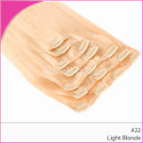 Blond Hair Wholesale Brazilian Remy Clips in Hair Extension