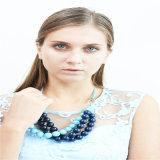 New Design Blue Tone Acrylic Beads Fashion Necklace Jewelry