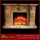 Freestanding Marble Fireplace Surround for Home Decoration