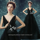 Women Tulle V-Neck Sleeveless Sexy Evening Party Prom Dress