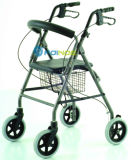 Ar04 Hot Selling Four Wheeled Aluminum Walker Rollator