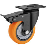 Medium Duty PU Caster Wheel (Orange) (Single Bearing) (G3216E)