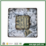 Square Wooden Picture Frame with Clock Decorations