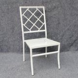 Elegant Backrest White Aluminum Party Chairs for Wholesale (YC-A28-06)