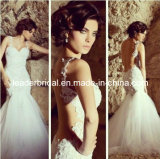 Mermaid Bridal Wedding Gown Backless Lace Bridal Gowns (A212)