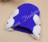 Winter Fashion Promotional Earflaps Knitted Hats & Cap