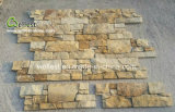 Popular Z Shape Exterior Wall Nature Golden Yellow Stone Cement Veneer
