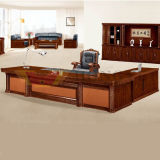 Special Marble Pillar Design Ultra Executive Luxury Office Furniture (HY-D0436)