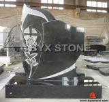 Shanxi Black Granite Cross Headstone / Memorial / Tombstone