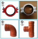 Ductile Iron Grooved Pipe Fitting and Couplings for Fire Protection with FM UL/ULC