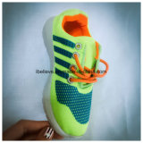 Brand Shoes with Yellow Color Mesh Upper and Fashion Printing to Export
