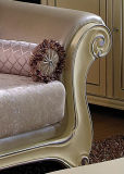 2013 New Design Neoclassical Leather&Fabric Sofa (1038A)