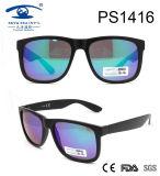 Fashion Design Large Frame Plastic Sunglasses (PS1416)
