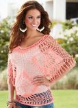 Ladie's Hand Made Crochet Beachwear Pullover Sweater