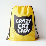Yellow Polyester Backpack Bag with Lovely Design