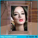 Ce Quality LED Crystal Light Box Sign Picture Frame