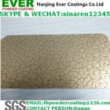 Electrostatic Spray Crack Effect Finish Gold Color Powder Coating
