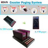 Coaster Call System with a Transmitter K-T20 and a Receiver K-P20 Sell Service for Restaurant