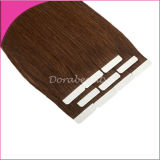 Brown Double Side Tape Adhesive PU Human Hair Extensions