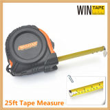 High Quality 25ft Tape Measure with Rubber