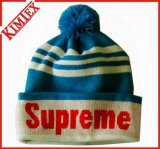 100% Acrylic Winter Knitted Jacquard Hat