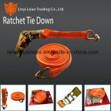 "1""&25mm; Orange Polyester Ratchet Tie Down for Cargo Lashing"