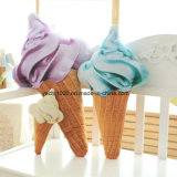 High Simulation Ice-Cream Cone Shaped Stuffed Toy Pillow