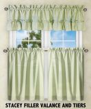 Polyester Kitchen Curtain Valance Tier Swag