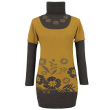 Gn1114 Yak and Wool Blended Knitted Longsleeve Pullover for Women