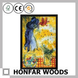 Abstract Art Painting with Wood Frame for Inn Wall Decoration