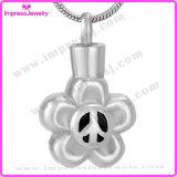 Memorial Jewelry Stainless Steel Flower Pendant Ijd9643