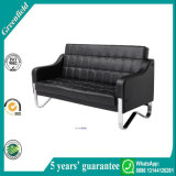 Economic Black Leather Exquisite Comfortable Modern Reception Chair Home Sofa
