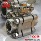 3PC 2000wog Threaded Stainless Steel Ball Valve with ISO5211 Mounting