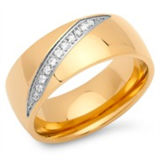 Gold Plated CNC Stone Setting Rings