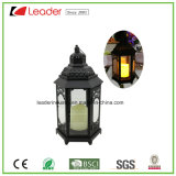 Black Decorative Lantern with LED Candle Light for Home and Outdoor Decoration