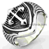 Custom Mens Ring Cross Stainless Steel Ring