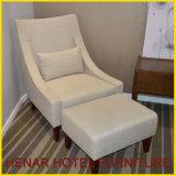 Wooden Leisure Ottoman Modern Fabric Chaise Lounge