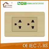 2 Gang Power Socket for Thailand Fashionable Wall Switch Socket